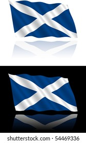 Scottish Flag Flowing