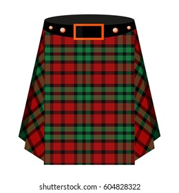 7f6938ae9c9896 Scottish tartan kilt.The men s skirt for the Scots.Scotland single icon in.  Young naughty student female isolated on white