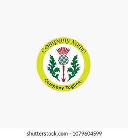 Scottish Thistle Logo, Scottish Thistle Badge