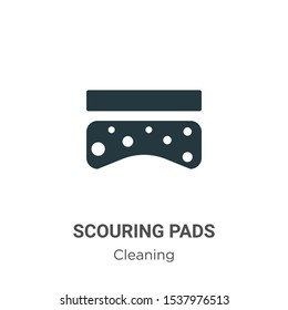 Scouring pads vector icon on white background. Flat vector scouring pads icon symbol sign from modern cleaning collection for mobile concept and web apps design.