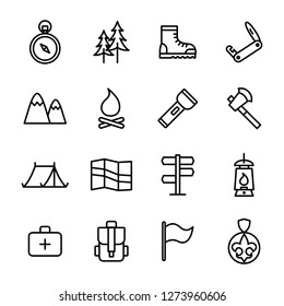 Scout icons pack. Isolated scout symbols collection. Graphic icons element