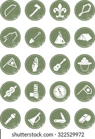 Scout icons in a retro style for the hipster in you