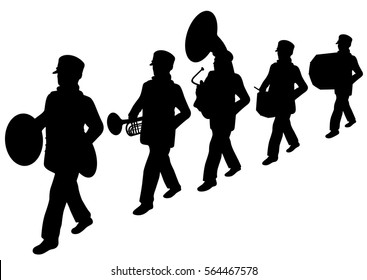 Scouts marching band silhouette
