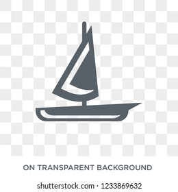 scow icon. Trendy flat vector scow icon on transparent background from Nautical collection.