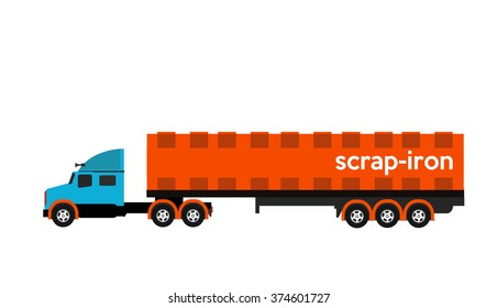 scrap iron transport truck
