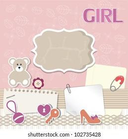 Scrapbook card for baby