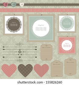 Scrapbook design elements.