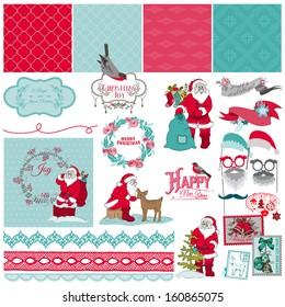 Scrapbook Design Elements - Santa Claus Christmas Set - in vector