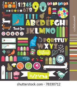 scrapbook elements with letters