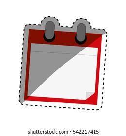 Scrapbook paper card icon vector illustration graphic design