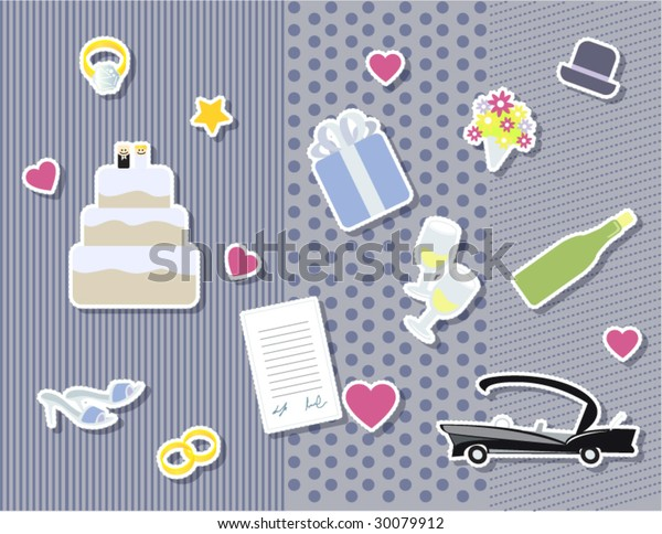 Free Wedding Stuff.Scrapbook Wedding Stuff Stock Vector Royalty Free 30079912