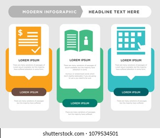 scratch card business infographic template, the concept is option step with full color icon can be used for user guide diagram infograph chart business presentation or web, estimate vector design