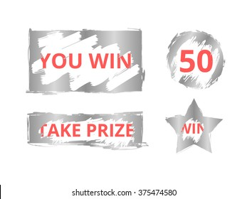 Scratch card win effect for scratch card game and win