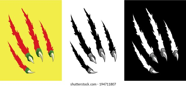 Scratch Claw Hole Vector Set