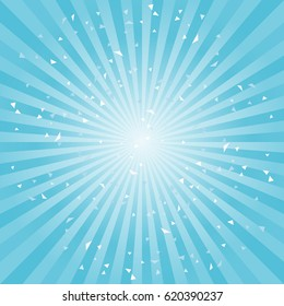 Scratched Abstract light Blue rays backgroud. Vector