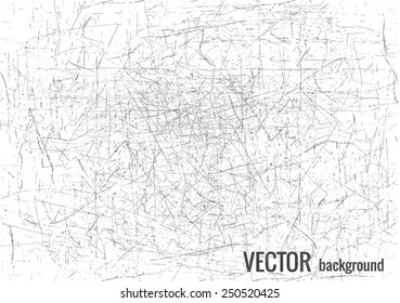 Scratched texture with grey lines, vector