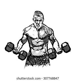 screaming bodybuilder