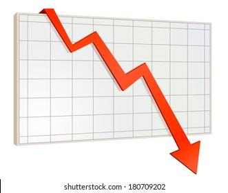 screen arrow graph down