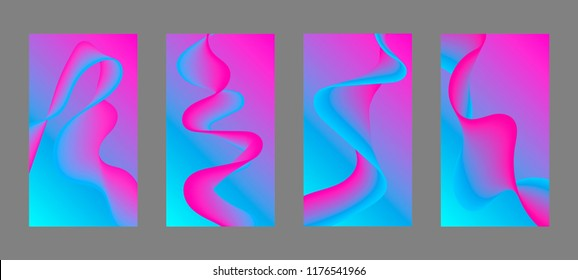 Screen background vector gradient design for mobile app.