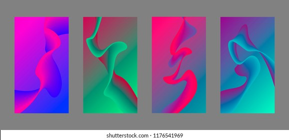 Screen background vector gradient design for mobile app.