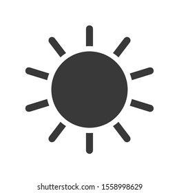 Screen brightness sun icon in vector