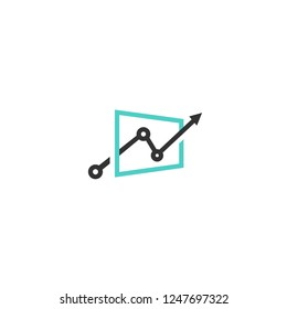 Screen and chart icon. Logo download.