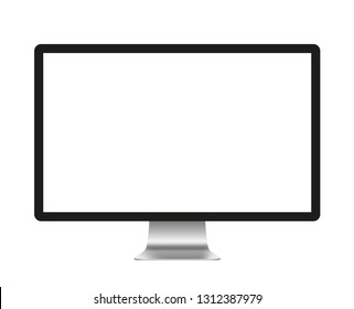 Screen computer monitor. Computer display isolated on white background - stock vector.