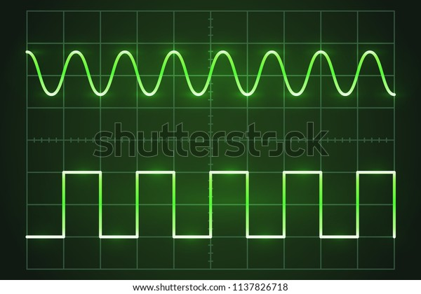 Screen Digital Oscilloscope Oscilloscope Image Wave Stock