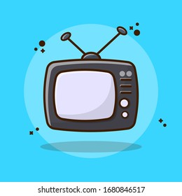 Screen Display, Old Television Vector Illustration. Set Tube Tv, retro, vintage, screen, electronic. Flat Cartoon Style Suitable for Sticker, Wallpaper, Icon, etc.