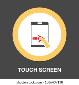 screen hand-gesture icon. hand touch. hand-gesture icon - finger touch screen. mobile tap or click