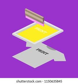 Silk Screen Production Stock Vectors, Images & Vector Art   Shutterstock