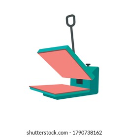 screen printing press design. as a booster or heating screen printing ink. white background