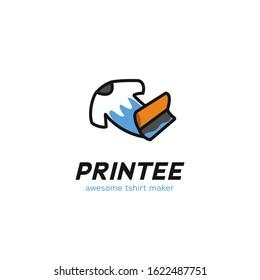 Screen printing tshirt tee maker logo icon symbol