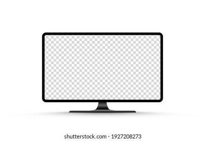 Screen vector mockup. Blank screen tv mockup. Blank screen for text, design. PNG.