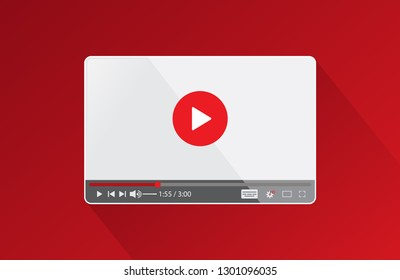 Screen video player background for a web site or application. Flat video player interface for web and mobile apps. Vector illustration EPS.8 EPS.10