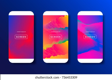 Screens vibrant gradient background for smartphones and mobile phones. Background for mobile app, ui, design theme. Vector template