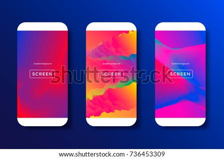 Screens Vibrant Gradient Background For Smartphones And Mobile Phones App Ui