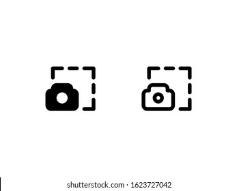 Screenshot icon. With glyph and outline style