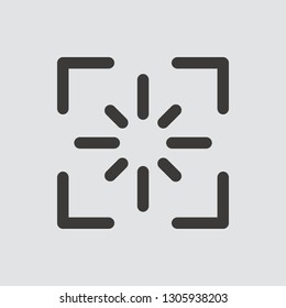 screenshot icon isolated of flat style. Vector illustration.