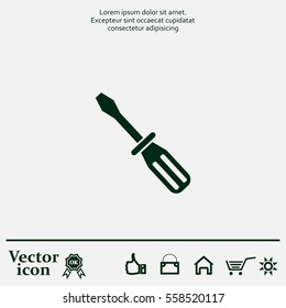 Screw-driver Icon - vector illustration.
