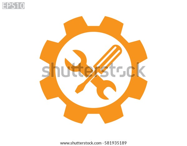 a screwdriver, a wrench icon, vector illustration eps10