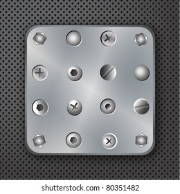 Screws rivets and bolts vector illustration