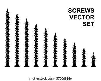 Screws vector set