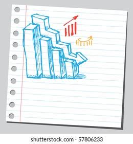 Scribble business diagram