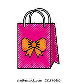 scribble cute gift bag cartoon