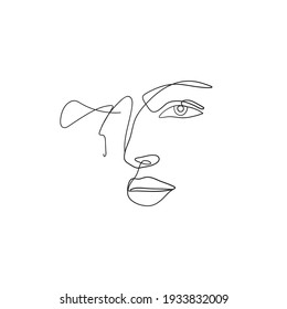 a scribble design that forms a face