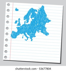 Scribble Europe map