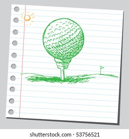 Scribble golf ball