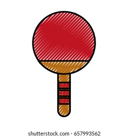 scribble Ping pong racket