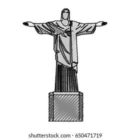 scribble redeemer christ statue